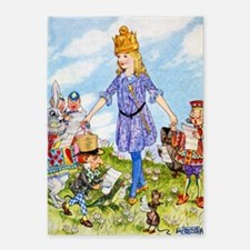 Alice Becomes A Queen 5'x7'Area Rug