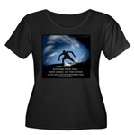 Take Your time Women's Plus Size Scoop Neck Dark T