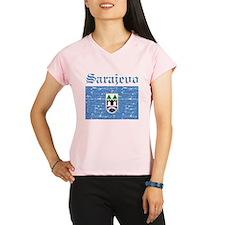 Flag Of Sarajevo Design Performance Dry T-Shirt
