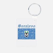 Flag Of Sarajevo Design Keychains