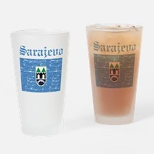 Flag Of Sarajevo Design Drinking Glass