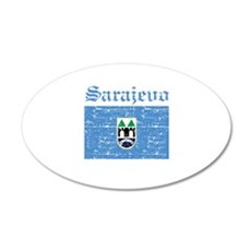 Flag Of Sarajevo Design Wall Decal