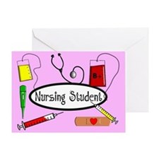 Nursing student Blanket 2.PNG Greeting Card