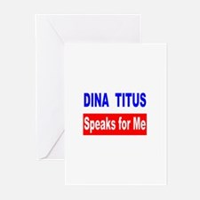 Dina Titus Speaks for Me Greeting Cards (Package o