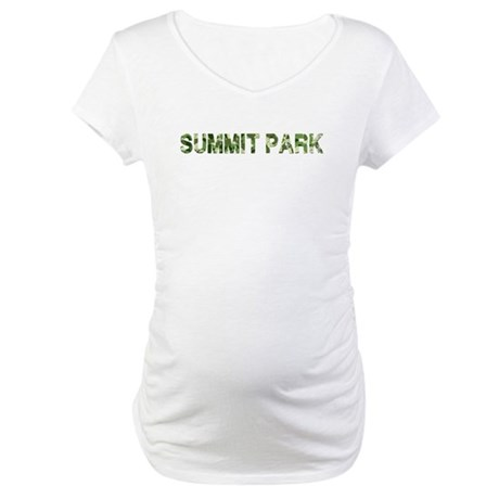 Summit Park, Vintage Camo, Maternity T-Shirt