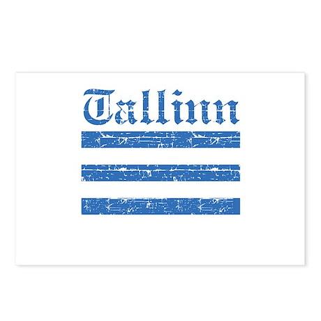 Flag Of Tallinn Design Postcards (Package of 8)