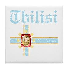 Flag of Tbilisi Design Tile Coaster