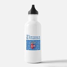 Flag Of Tirana Design Water Bottle