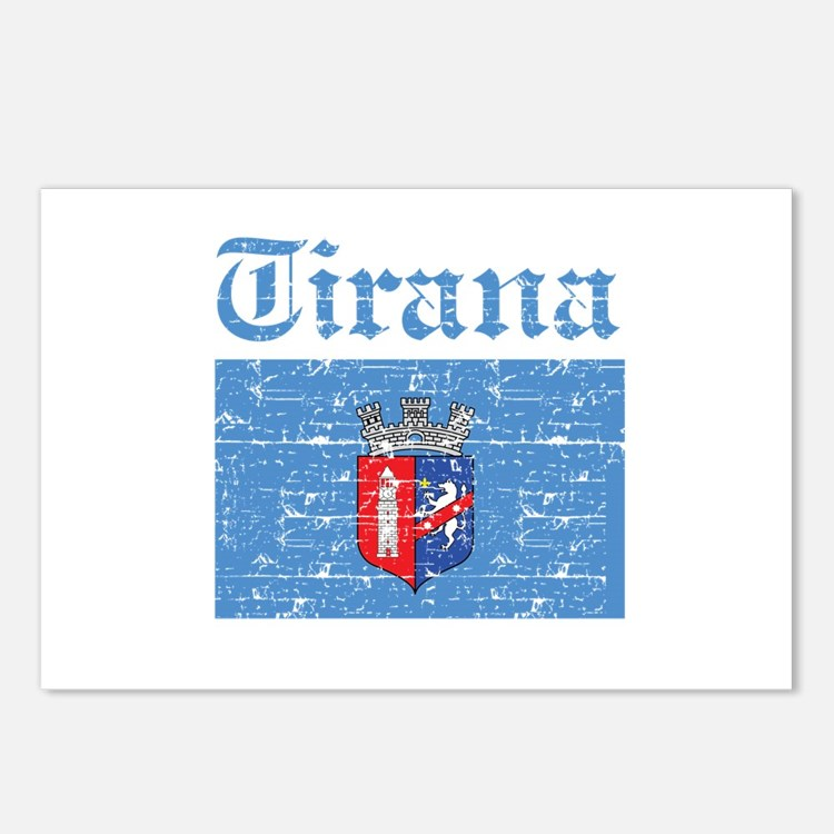 Flag Of Tirana Design Postcards (Package of 8)