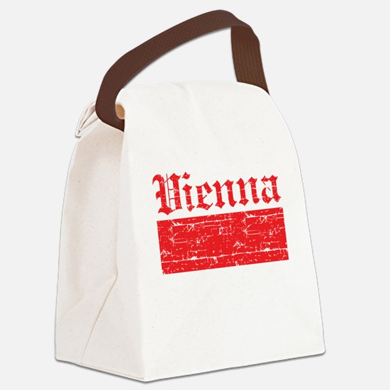 Flag Of Vienna Design Canvas Lunch Bag