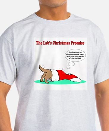 Lab Holiday Promise #2 Ash Grey T-Shirt