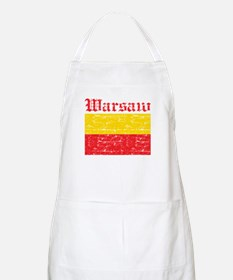 Flag Of Warsaw Design Apron