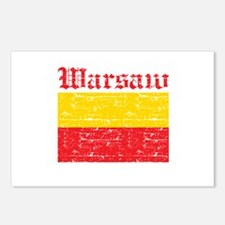 Flag Of Warsaw Design Postcards (Package of 8)