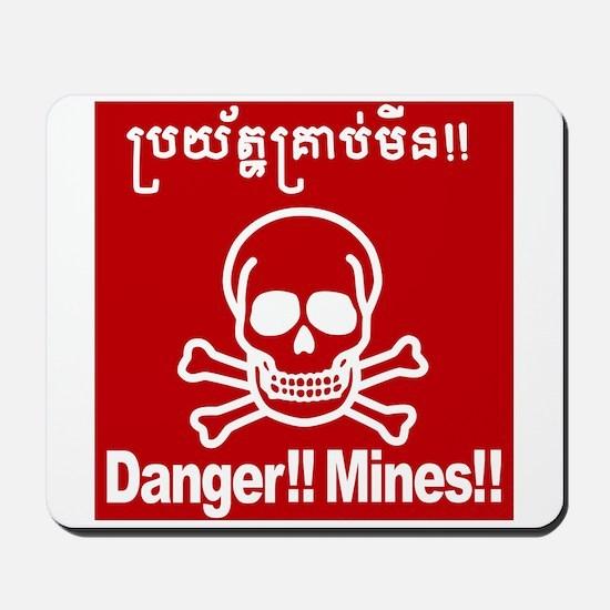 Danger!!Mines!! Mousepad