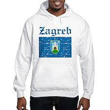Flag Of Zagreb Design Hoodie Sweatshirt