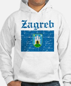 Flag Of Zagreb Design Hoodie Sweatshirt