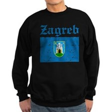 Flag Of Zagreb Design Sweatshirt