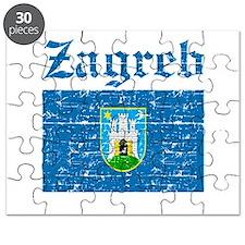Flag Of Zagreb Design Puzzle