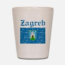 Flag Of Zagreb Design Shot Glass