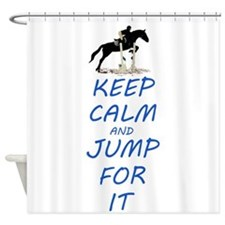 Keep Calm and Jump For It Horse Shower Curtain