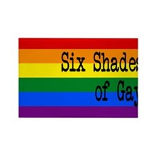 Six Shades of Gay Rectangle Magnet