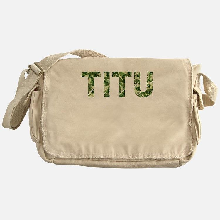 Titu, Vintage Camo, Messenger Bag