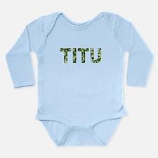 Titu, Vintage Camo, Long Sleeve Infant Bodysuit