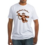 Monkeys Uncle Fitted T-Shirt