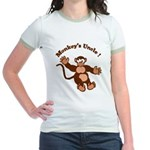 Monkeys Uncle Jr. Ringer T-Shirt