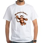 Monkeys Uncle White T-Shirt