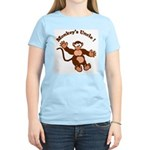 Monkeys Uncle Women's Pink T-Shirt