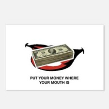 Put Your Money where your Mou Postcards (Package o