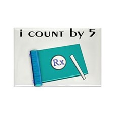 i count by 5.PNG Rectangle Magnet