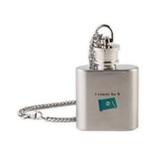 i count by 5.PNG Flask Necklace