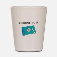 i count by 5.PNG Shot Glass