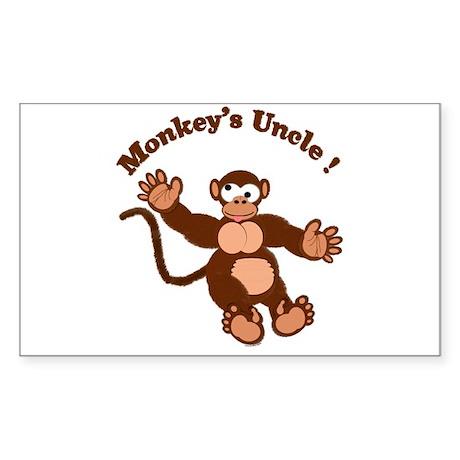 Monkeys Uncle Rectangle Sticker