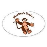 Monkeys Uncle Oval Sticker