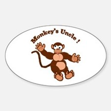 Monkeys Uncle Oval Decal