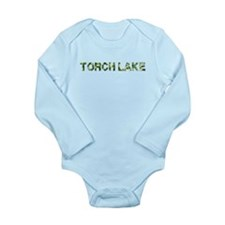Torch Lake, Vintage Camo, Long Sleeve Infant Bodys
