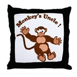 Monkeys Uncle Throw Pillow