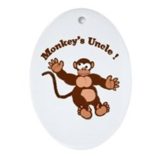 Monkeys Uncle Oval Ornament