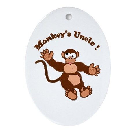 Monkeys Uncle Oval Ornament