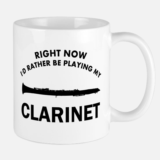 Clarinet silhouette designs Mug