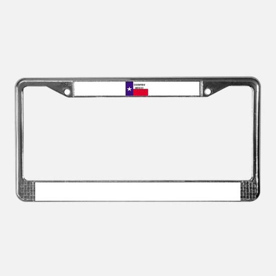Country Music License Plate Frame