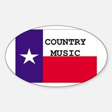 Country Music Oval Decal