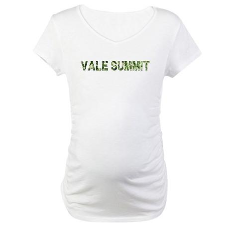 Vale Summit, Vintage Camo, Maternity T-Shirt