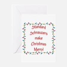 Merry Standard Schnauzer Greeting Cards (Package o