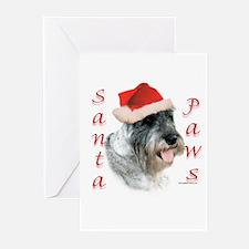 Santa Paws Schnauzer Greeting Cards (Pk of 10)