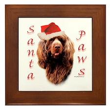 Santa Paws Sussex Spaniel Framed Tile
