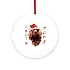 Santa Paws Sussex Spaniel Ornament (Round)